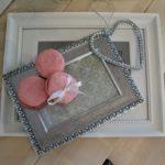 Dekorace - rámečky s makrónkami